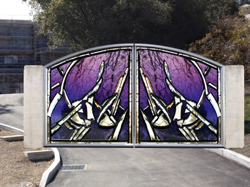 O. Gabbert - Purple Window Gate Abstract