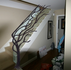 Tree Branch Rail w/ Glass - O. Gabbert