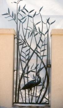 O. Gabbert - Heron Bamboo Entry Gate
