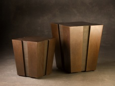 Bronze Notched Side/Coffee Tables - A. Held