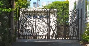 O. Gabbert - Double Bamboo Driveway Gate